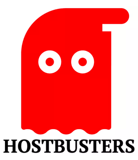 Hostbusters from Brand9 website design wirral and web hosting logo